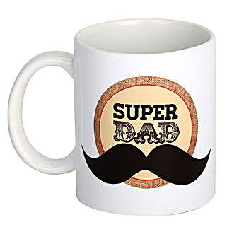 Super Dad Coffee Mug: Send Fathers Day Gifts to Noida