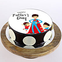 Superman Dad Photo Cake: Cakes for Father's Day