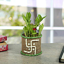 Swastika Two Layer Bamboo plant: Chhat Puja Gifts