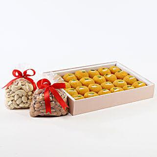 Sweet N Crunch Hamper: Sweets & Dry Fruits for Eid