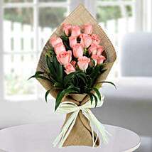 Sweet Pink Roses Bunch: Best Gift For Mother In Law
