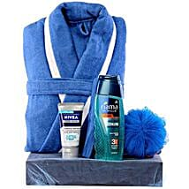 The Blue Man: Cosmetics & Spa Hampers for Anniversary