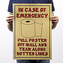 Toilet Paper Poster: Funny Gifts