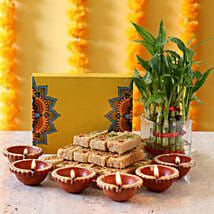 Two Layer Bamboo Plant Sweet Combo: Diwali Gifts for Friend