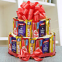 Two Layer Assorted Chocolate Arrangement: Send Chocolate Bouquet for Kids