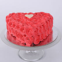 Valentine Heart Shaped Cake: Send Anniversary Cakes to Delhi