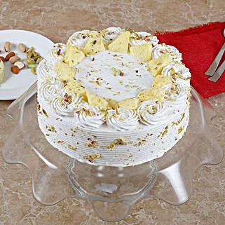 Vanilla Flavored Pista Rasmalai Cake: Send Diwali Sweets to Bhopal