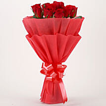 Vivid - Red Roses Bouquet: Send Flowers to Guntur
