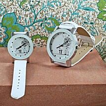 White Couple Watch Set: Watches