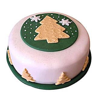 Xmas Tree Fondant Cake: Send? Christmas Gifts? to Pune