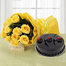 Yellow Roses and Cake: Flowers N Cakes - anniversary