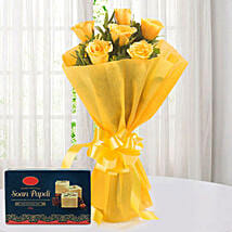 Yellow Roses N Sweets: Flowers & Sweets Delhi