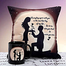 You are Mine Cushion n Mug: Gifts for Propose Day