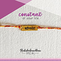 You Are My Constant Rakhi & Card: Send Rakhi to Gauribidanur