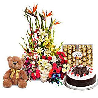 You Deserve the Best: Flowers & Teddy Bears