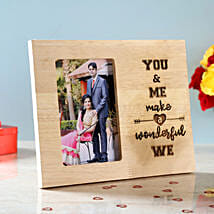 You & Me Engraved Wooden Photo Frame: Personalised Photo Frames