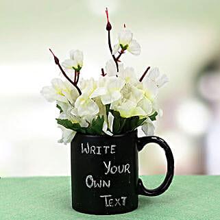 Your Words Mug and Plant: Artificial Flowers Kolkata
