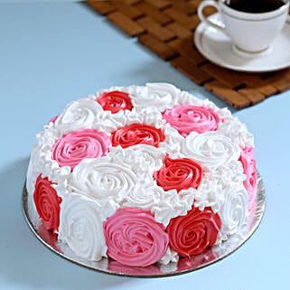 Yummy Colourful Rose Cake: Designer Cakes to Ghaziabad