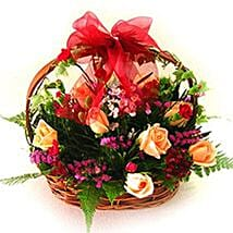 Exceptional Floral Beauty Basket: New Year Gifts Delivery In Malaysia