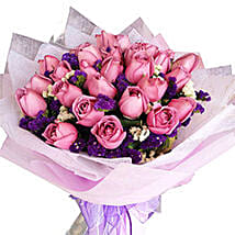 Purple Magic Bouquet: Flower Delivery Malaysia