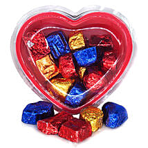 Assorted Chocolates Heart Gift Box 160g: Send Valentine Gifts to Nepal