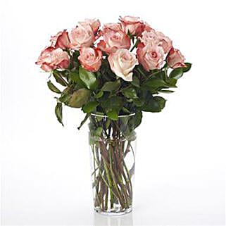 Elegant Powder Pink Roses: Flower Arrangements in New Zealand