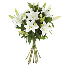 Exotic White Lilies Bouquet: Lilies to New Zealand