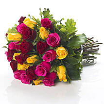 Mixed Roses Bouquet: Send Birthday Gifts to New Zealand
