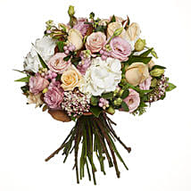 Pastel Flowers Bouquet: Roses to New Zealand