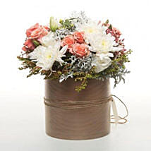 Peach Flowers In Copper Pot: Wedding Gifts to New Zealand