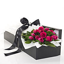 Pink Roses In A Box: Valentine's Day Gifts to NZ