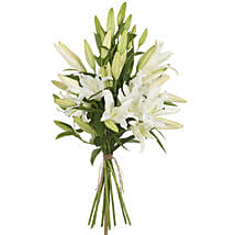 Pristine White Lilies: Funeral Flowers to New Zealand