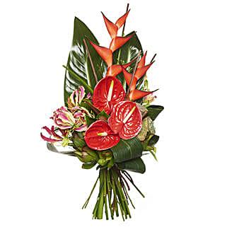 Ravishing Red Bouquet: Send Flower Bouquets to New Zealand