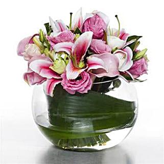 Serene Pink Posy: Flower Arrangements in New Zealand