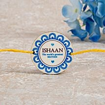 Worlds Greatest Brother Personalized Rakhi: Rakhi Delivery in Norway