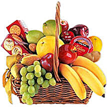 Cheese Crackers n Fruit Basket oma: Send Bhai Dooj Gifts to Oman