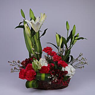 Floral Basket Of Elegance: Send Lilies to Oman