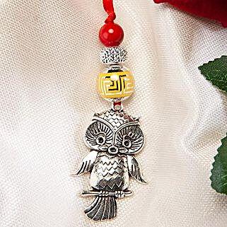 Trendy Owl Lumba Rakhi: Rakhi Delivery in Oman