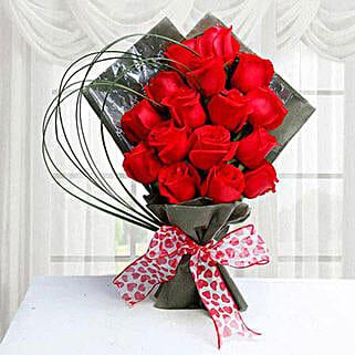 15 Red Roses: Valentine Roses to Saudi Arabia