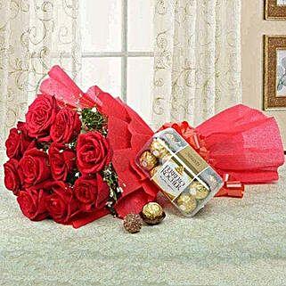 Combo For Love: Valentines Day Roses in Saudi Arabia