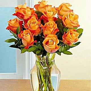 Dozen Orange Roses: New Year Gifts Delivery In Saudi Arabia