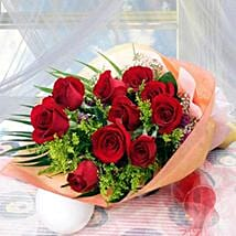 10 Long Stem Roses: Roses Delivery in Singapore