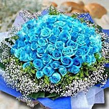 99 Blue Roses: Thinking of You Flowers To Singapore