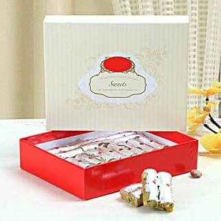 Kaju Roll With Love: Bhai Dooj Gift Delivery in Singapore