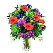 Mix Bouquet in Vase: Send Birthday Flowers to Singapore