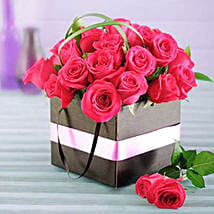 Cerise Roses in a Box: Send Romanic Gifts to South Africa