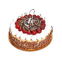 4 Portion Blackforest Cake: Send Rakhi Gifts for Sister in UAE
