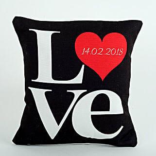 Black Love Cushion: Personalized Gifts Dubai UAE
