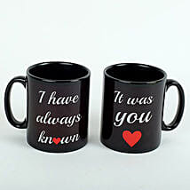 Black Love Mugs: Valentine Gift Delivery Abu Dhabi