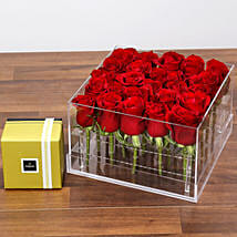 Dreamy Red Rose Box and Patchi Chocolates: Send Birthday Gifts to UAE